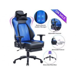 VON RACER Big & Tall Massage Reclining Gaming Chair Metal Base