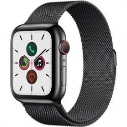 Apple Watch Series 5 (GPS + Cell, 44mm, Space Black Stainless Steel, Space Black Milanese Loop)