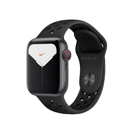 Apple Watch Series 5 (Nike+/GPS + Cell, 40mm, Space Gray Aluminum, Anthracite/Black Nike Sport Band)