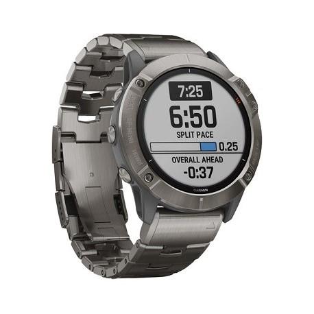 Garmin fenix 6X Multisport GPS Smartwatch (51mm, Pro Solar, Titanium / Vented Titanium Bracelet)